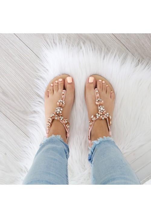 Sandałki Japonki Crystal Pink