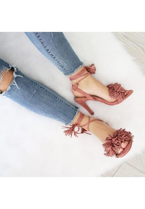 Sandały Szpilki Różowe Anabella New