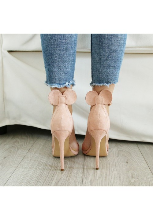 Sandałki Klasyczne Zamszowe Różowe Sweet Mouse