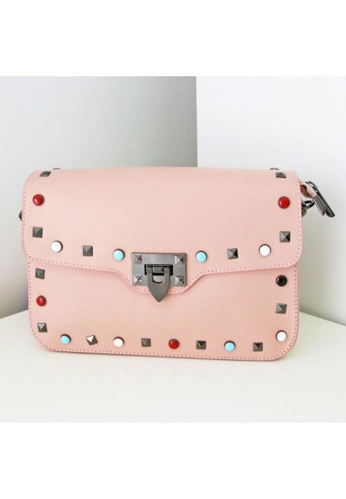 Torebka Natural Leather Pink Klips Colour
