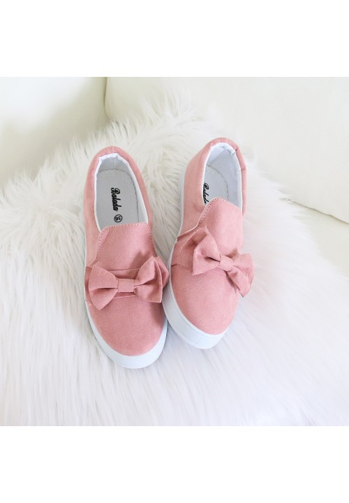 Trampki Slip On Zamszowe Pink Little Bow