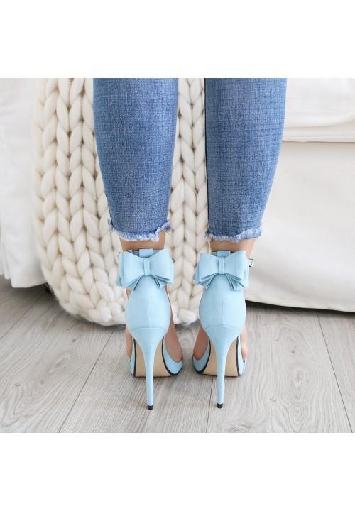 Sandały Klasyczne Zamszowe Niebieskie Shay New