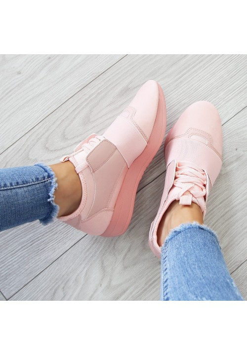 Trampki Sportowe Różowe Elastic Soft