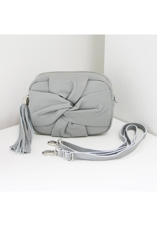Torebka Skóra Naturalna Grey Vanity-Case New