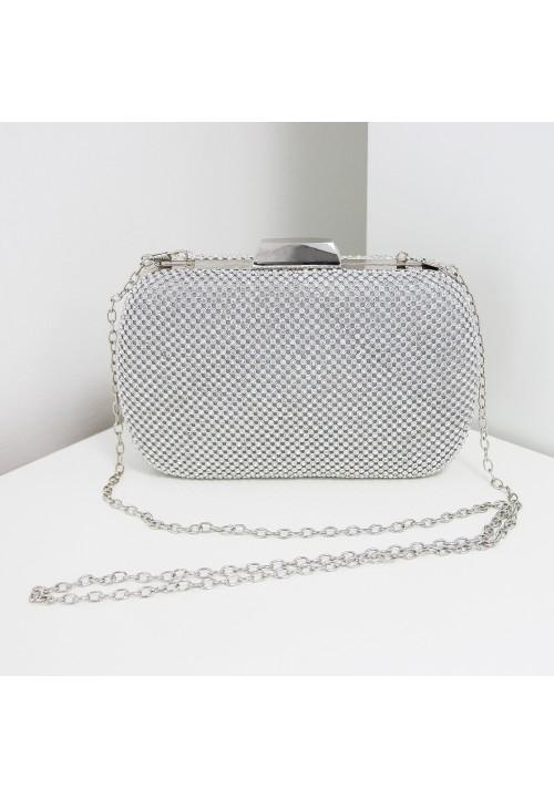 Torebka Wizytowa Silver Crystal Diamond