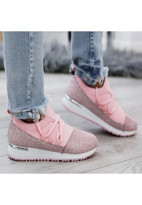 Trampki Sportowe Różowe Glitter Sports