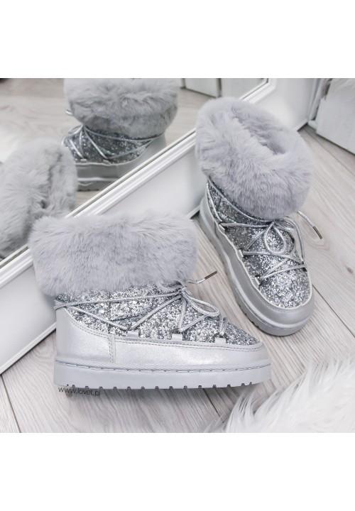 Śniegowce Srebne Brokatowe Snow Kids