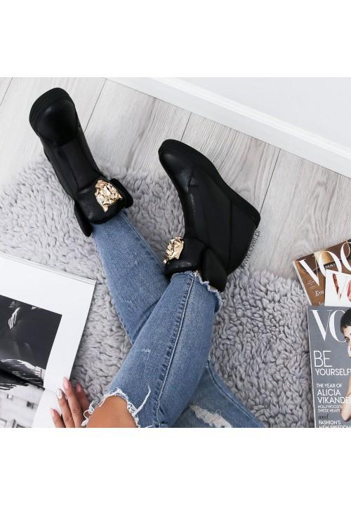 Trampki Sneakersy na koturnie Black Kat