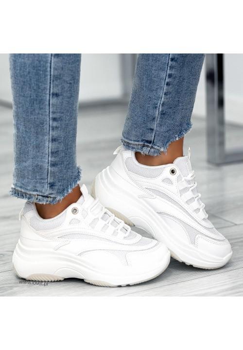 Trampki Sportowe Sneakersy Białe Simone