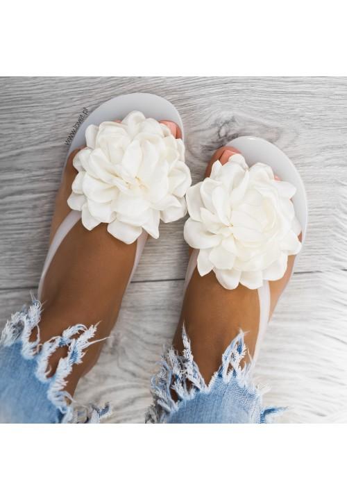 Klapki Japonki Biały Jelly Flower
