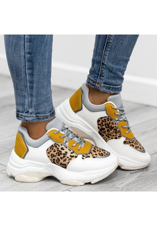 Trampki Sportowe Sneakersy Białe Gianna