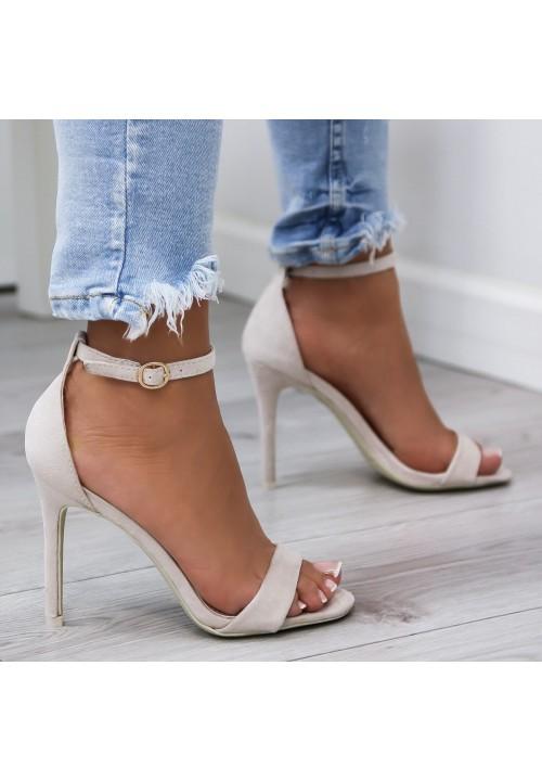 Sandałki Klasyczne Zamszowe Beżowe Arlette