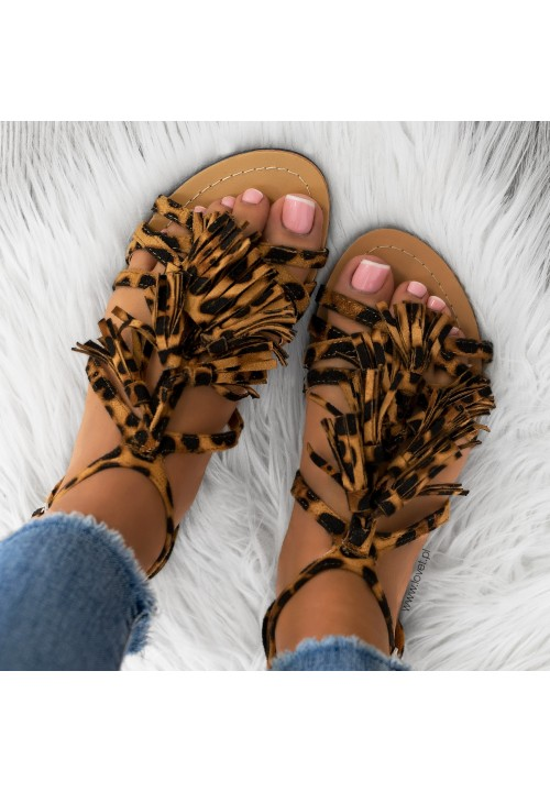 Sandałki z Frędzlami Zamszowe Panerka Jillian