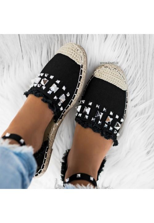 Sandały Espadryle z Ćwiekami Czarne Molly