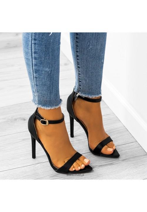 Sandały Szpilki Czarne Amelia