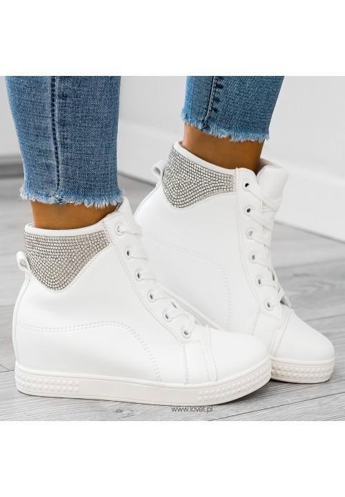 Trampki Sneakers Białe Abbi