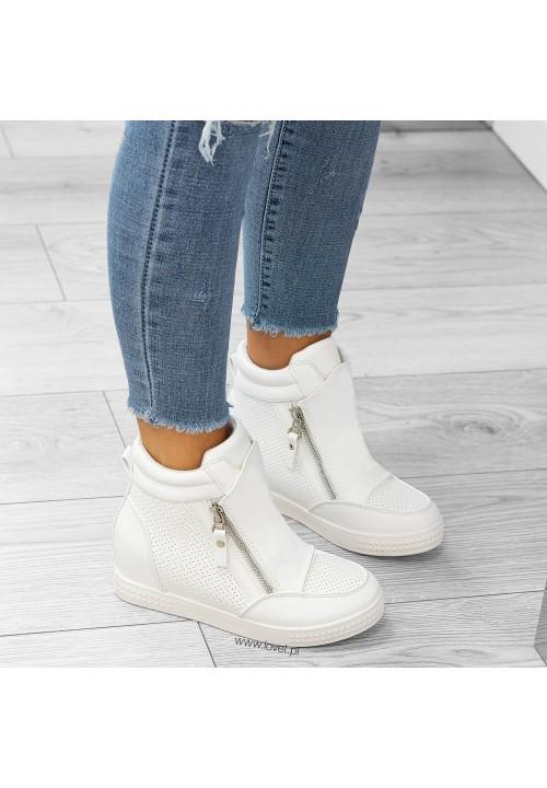 Trampki Sneakers Białe Rita