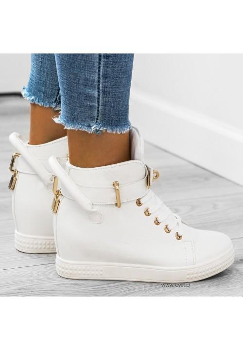 Trampki Sneakers Białe Code Gold