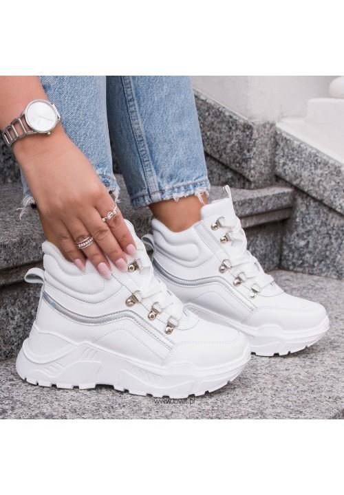 Trampki Sneakersy Białe Robin