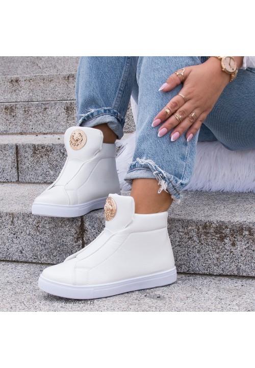 Trampki Sneakersy Białe Luke