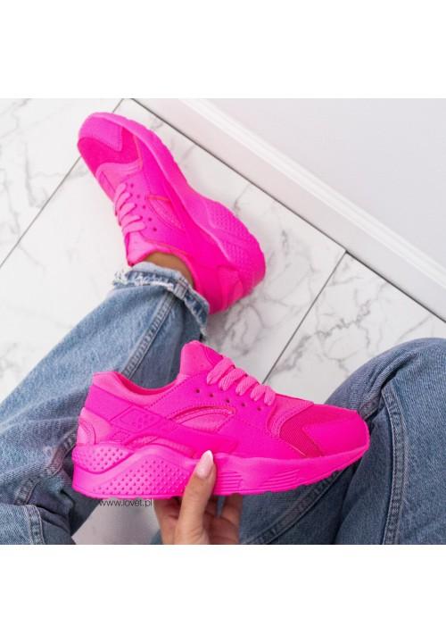 Trampki Sneakersy Sportowe Fuksjowe Rowena