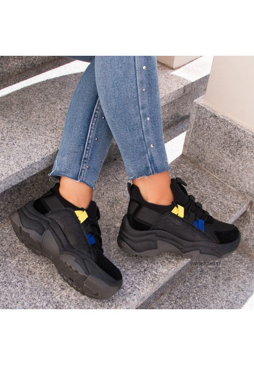 Trampki Sneakersy Sportowe Czarne Marlee