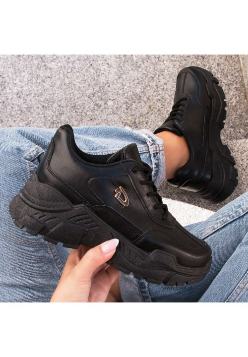 Trampki Sportowe Sneakers Czarne Vika