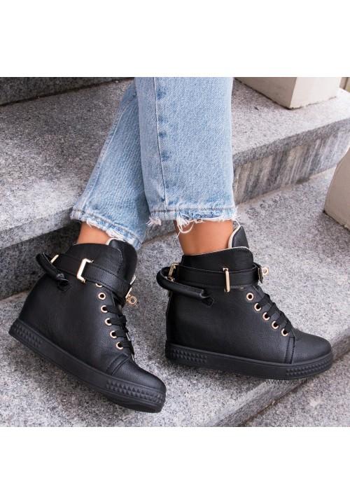 Trampki Sneakers Czarne Code Gold