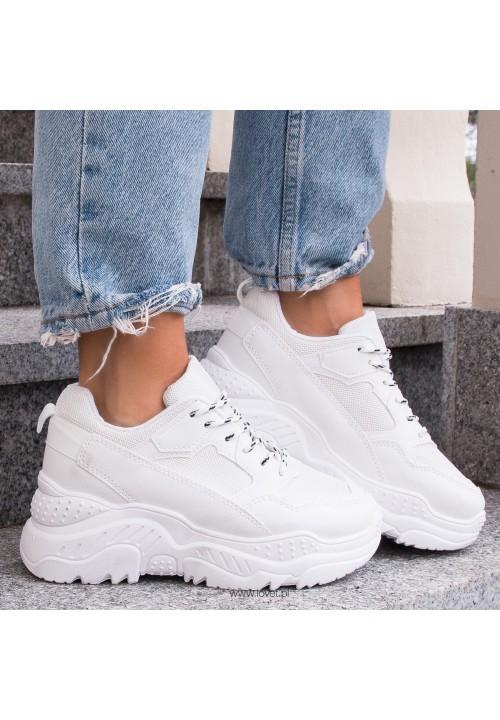 Trampki Sneakersy Sportowe Białe Andy