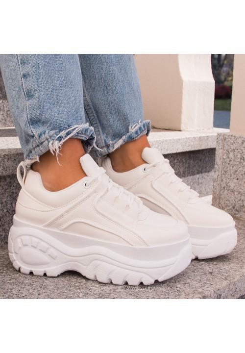 Trampki Sneakersy Białe Vinnie