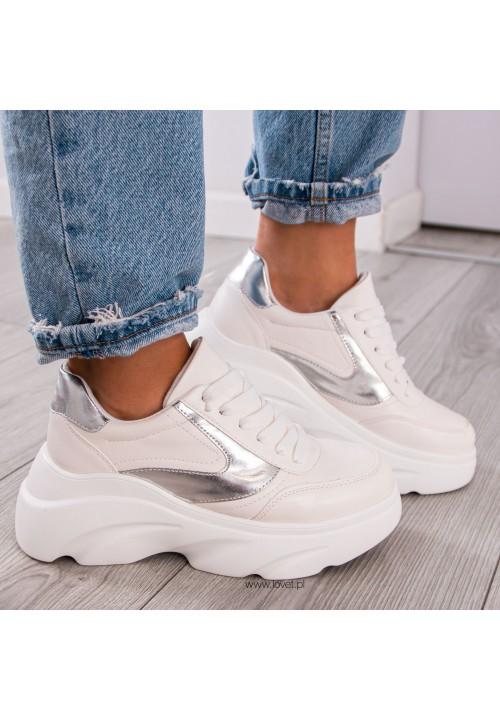 Trampki Sneakersy Sportowe Białe Louco