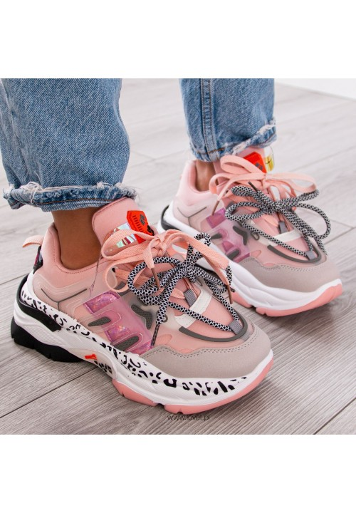 Trampki Sneakersy Sportowe Różowe Revi