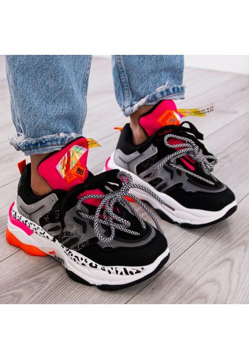 Trampki Sneakersy Sportowe Czarne Revi