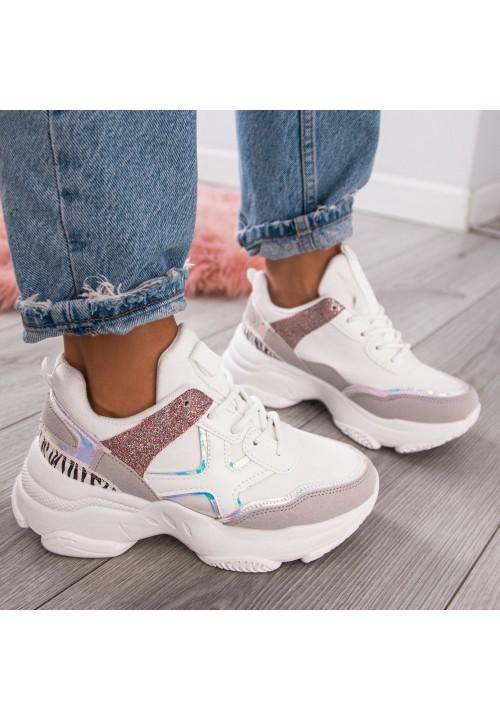 Trampki Sneakersy Sportowe Białe Tori