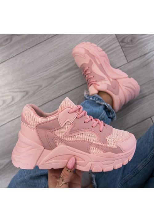 Trampki Sneakersy Sportowe Różowe Alisa