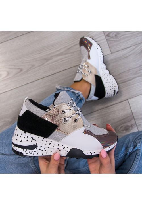 Trampki Sportowe Sneakersy Białe Power