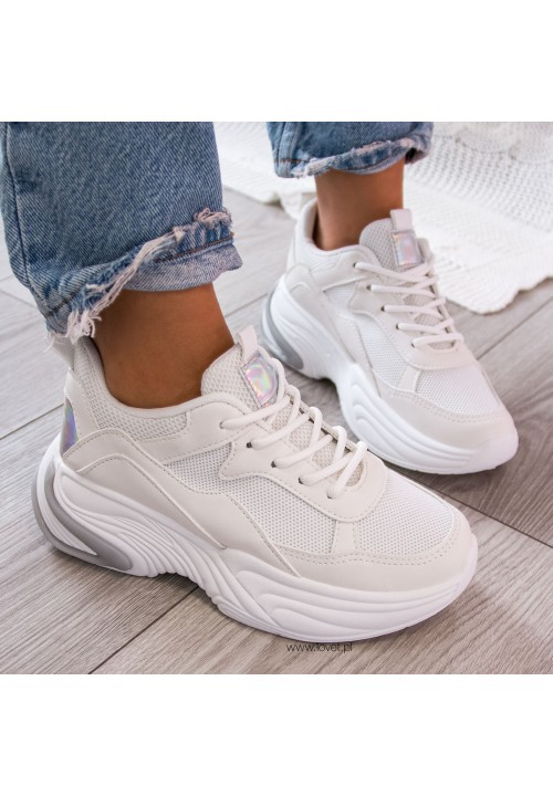 Trampki  Sneakersy Białe Neila