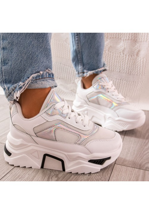 Trampki Sneakersy Sportowe Białe Monise