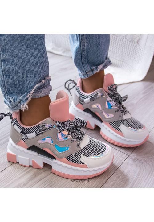 Trampki Sneakersy Różowe Dennis