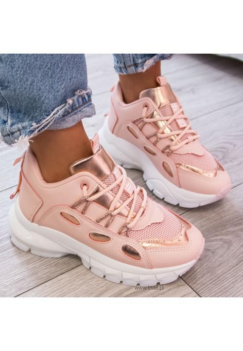 Trampki Sneakersy Sportowe Różowe Edna