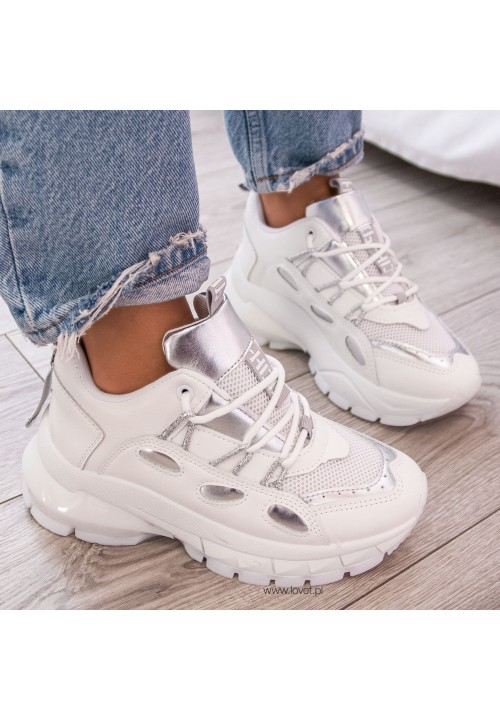 Trampki Sneakersy Sportowe Białe Edna