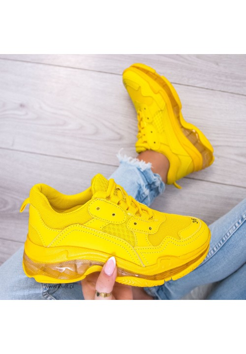 Trampki  Sneakersy Żółte Ronnie