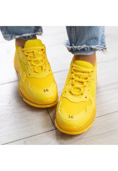 Trampki Sportowe Żółte Ronnie