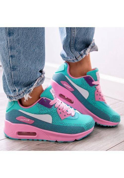 Trampki Sneakersy Niebiesko-Różowe Emily