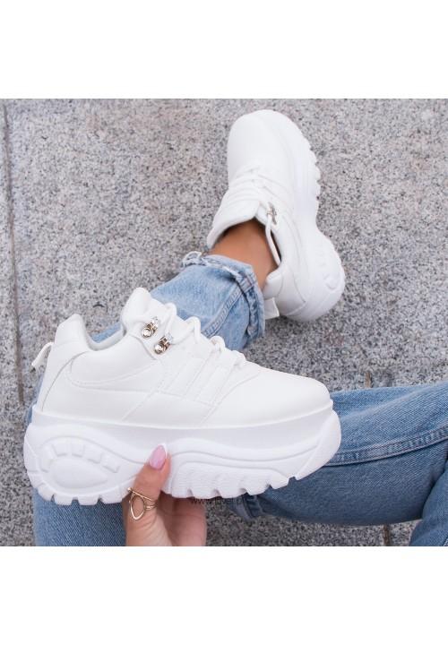 Trampki Sneakersy Białe Robi