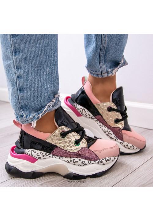 Trampki Sneakersy Różowe  Lizzie