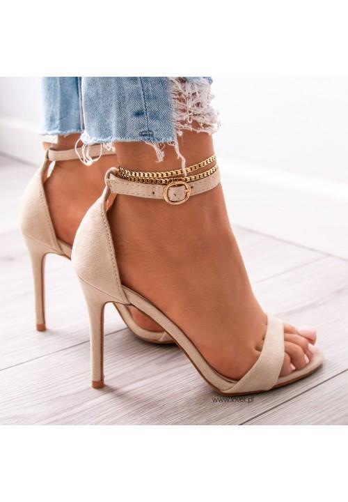 Sandałki Zamszowe Beżowe Arlette