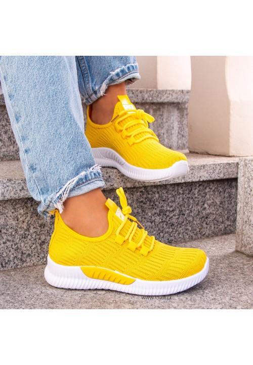Trampki Sportowe Żółte  Leyla Soft