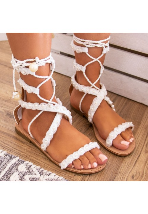 Sandałki Płaskie Livia