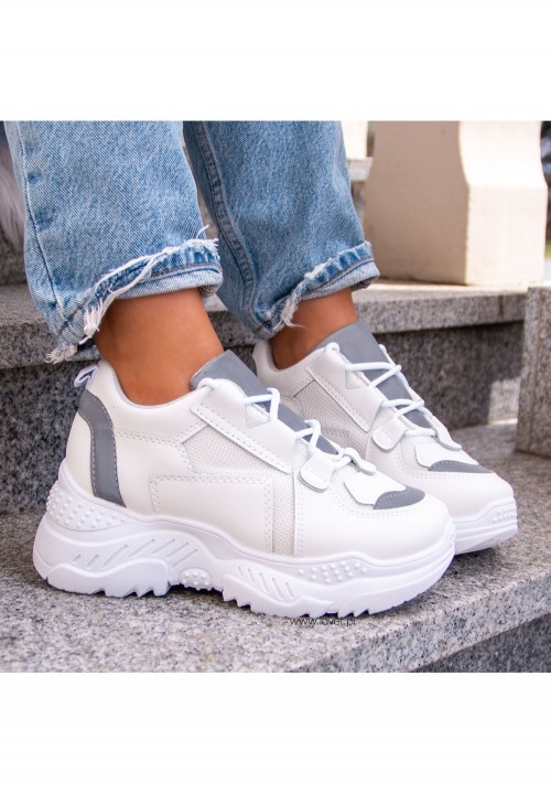 Trampki Sneakersy Sportowe Białe Beth